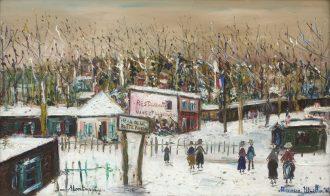 Maurice Utrillo – Rue de la Butte Pinson sous la Neige, Montmagny (Val-d'Oise)