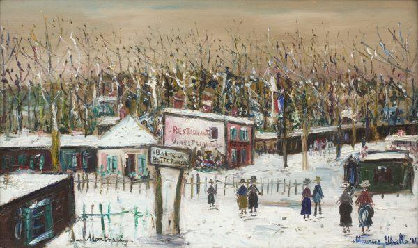 Rue de la Butte Pinson sous la Neige, Montmagny (Val-d'Oise) - No Frame
