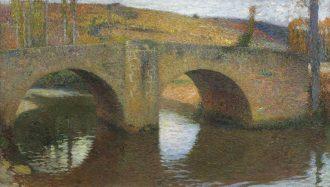 Henri Martin – Le Pont de Labastide du Vert (un jour de printemps, ciel couvert)
