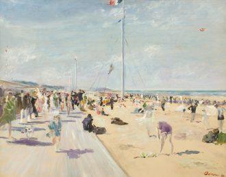 Lucien Adrion – La Plage à Deauville